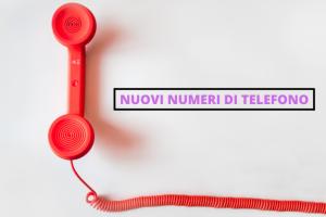 Nuovi numeri telefonici